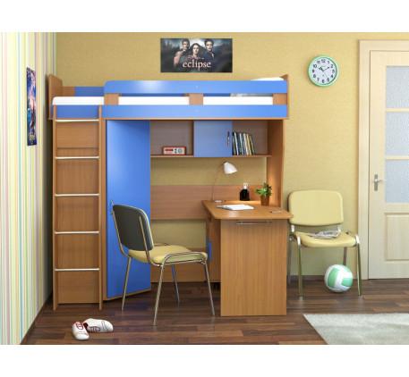 Кровать-чердак Карлсон М2 (арт. 14.710+14.501) с мобильным столом, спальное место кровати 1860*700 м..