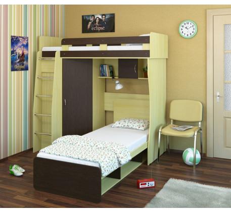 Детская Карлсон М3 (арт. 14.710+14.101) с нижней кроватью, спальное место кроватей 1860*700 и 2000*8..