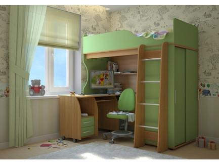 Кровать-чердак Мишутка (детская Сканд-Мебель)