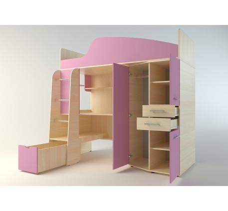 Детская кровать-чердак Нильс (спальное место 1900*800).