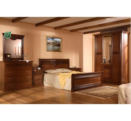 Спальня Изотта-1. Комплектация: ИТ-2, ИТ-5, ИТ-1 (2 шт.), ИТ-3, ИТ-7.