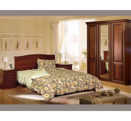 Спальня Джулия-2. Комплектация спальни: Кровать 2551, Тумба прикроватная 2553 (2 шт.), Шкаф 2549