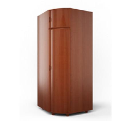 Шкаф угловой с штангой и полками (модуль E)