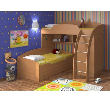 Двухъярусная кровать Соня с бортиками, спальные места 190х80 см