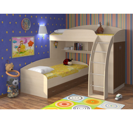 Двухъярусная кровать Соня детская, спальные места 190х80 см