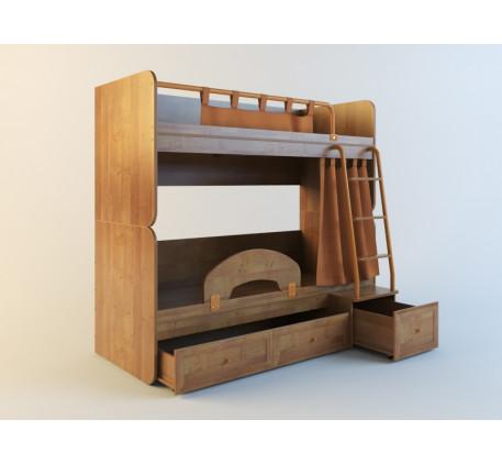 Двухъярусная кровать Немо (спальные места кроватей 190х80 см). Возможна установка кроватей Немо по о..