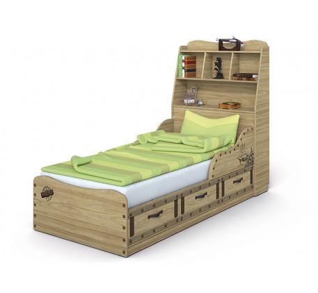 Кровать Корсар-3 с изголовьем, спальное место 190х90 см
