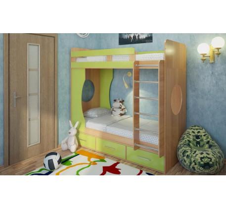 Двухъярусная кровать для подростков Милана-1, спальные места 190х80 cм