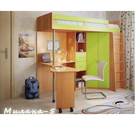 Детская кровать-чердак Милана-5, спальное место 200х800 см