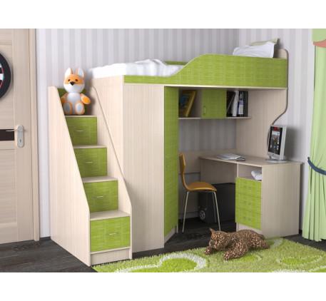 Кровать-чердак Квартет-2, спальное место 190х80 см