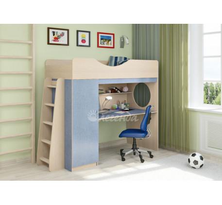 Кровать-чердак для мальчика Легенда-9.1 со столом, спальное место 180х80 см