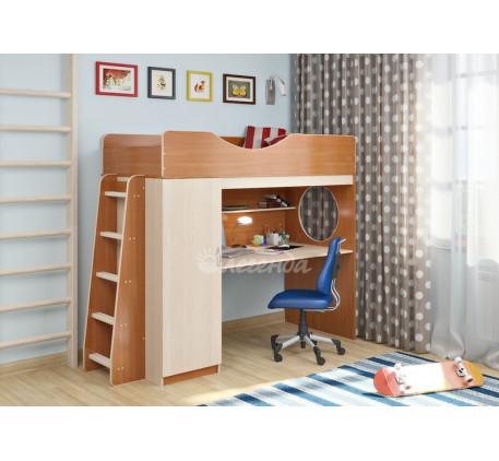 Кровать-чердак для детей Легенда-9.1 со столом, спальное место 180х80 см