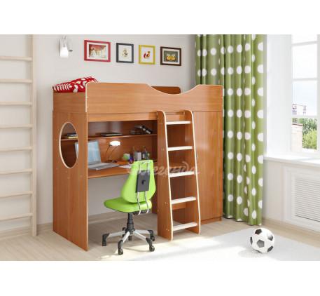 Кровать-чердак от 3 лет Легенда-9.1 со столом, спальное место 180х80 см