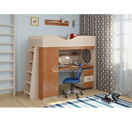 Кровать-чердак с рабочей зоной для детей Легенда-9.2, спальное место 180х80 см