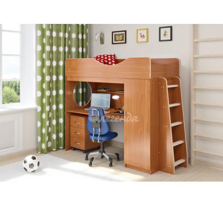 Кровать-чердак с рабочей зоной от 5 лет Легенда-9.2, спальное место 180х80 см