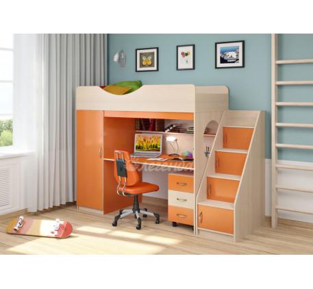 Детская кровать-чердак со столом Легенда-9.3, спальное место 180х80 см