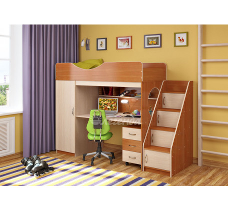 Детская кровать-чердак со шкафом Легенда-9.3, спальное место 180х80 см