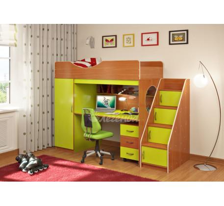 Кровать-чердак с лестницей с ящиками Легенда-9.3, спальное место 180х80 см