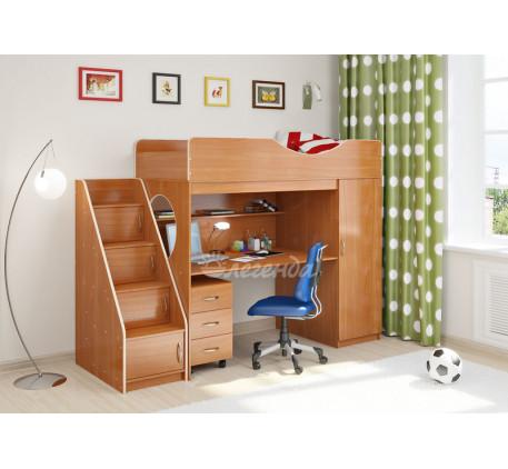 Кровать-чердак для школьника Легенда-9.3, спальное место 180х80 см