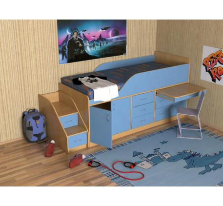 Кровать-чердак Кузя-3, детское спальное место 190х80 см