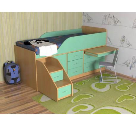 Кровать-чердак Кузя-4, детское спальное место 190х80 см