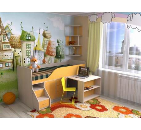 Кровать-чердак Кузя-5, детское спальное место 190х80 см