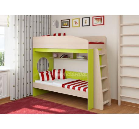 Двухъярусная кровать с бортиками Легенда-10.1, спальные места 180х80 см