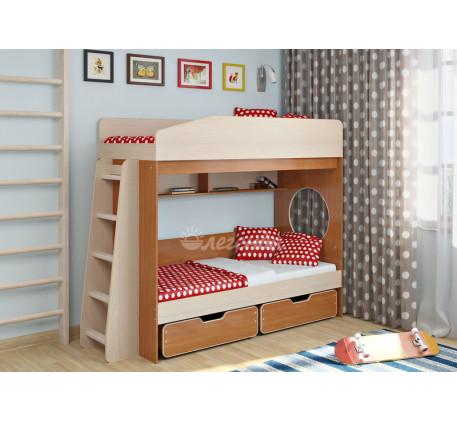 Двухъярусная кровать для подростков Легенда-10.2, спальные места 180х80 см