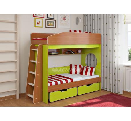 Детская двухъярусная кровать Легенда-10.2, спальные места 180х80 см