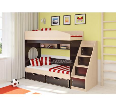 Двухъярусная кровать для детей Легенда-10.3, спальные места 180х80 см