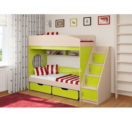 Детская двухъярусная кровать Легенда-10.3, спальные места 180х80 см