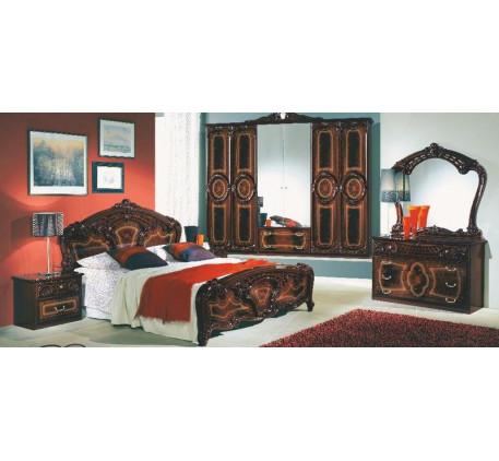 Спальня Роза (на фото): Кровать 1600, Тумба прикроватная (2 шт.),  Комод с зеркалом, Шкаф 6 дверный...