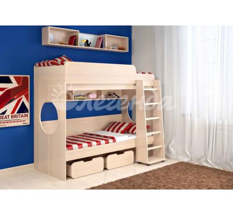 Двухъярусная кровать Легенда-7.1, спальные места 190х80 см