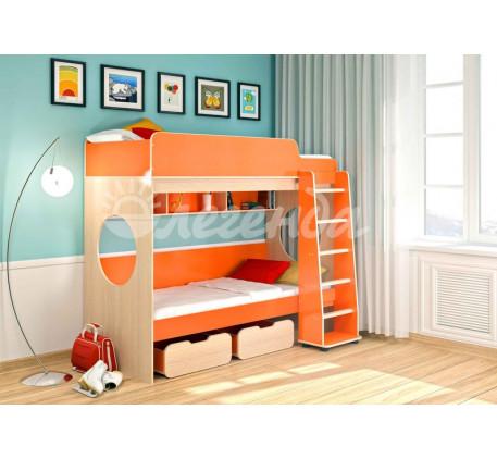 Двухъярусная кровать для детей Легенда-7, спальные места 190х80 см