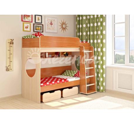Детская двухъярусная кровать Легенда-7.1, спальные места 190х80 см