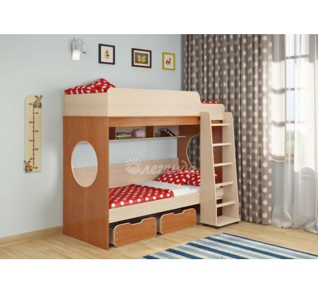 Двухъярусная кровать с ящиками Легенда-7.1, спальные места 190х80 см